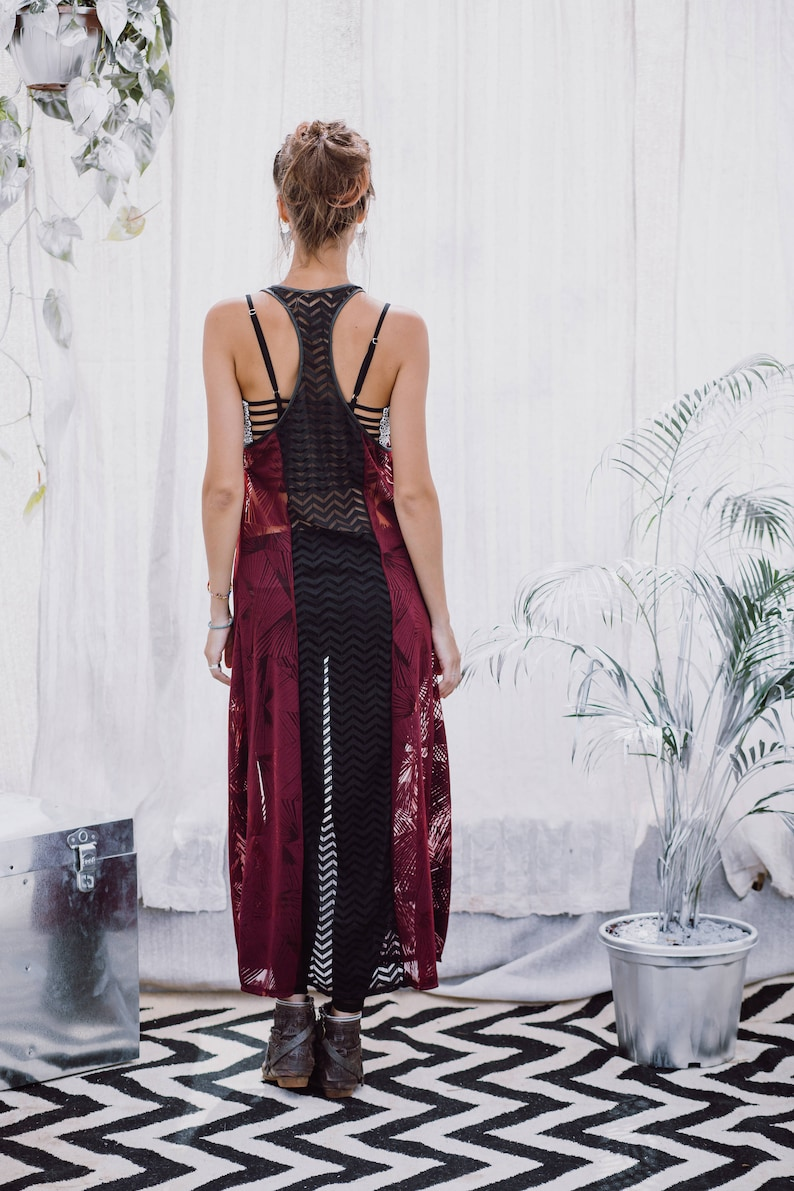 a95d2c453a061 Women Vest Boho Top Festival woman Clothing Long Top Women