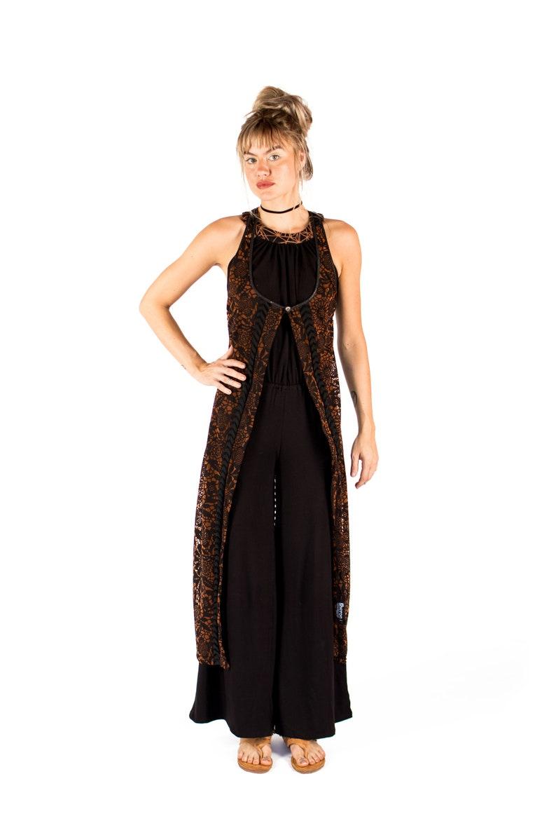 Women Vest Festival Clothing Long Top Women Long Vest Sheer Women Tank Top Long Black Vest Black Vest Women Black Sleeveless Vest