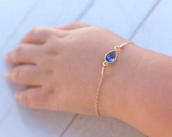 birthstone bracelet - baby boy gift- baby Girl gift- newborn bracelet - baptism gift- christening gift- delicate child bracelet