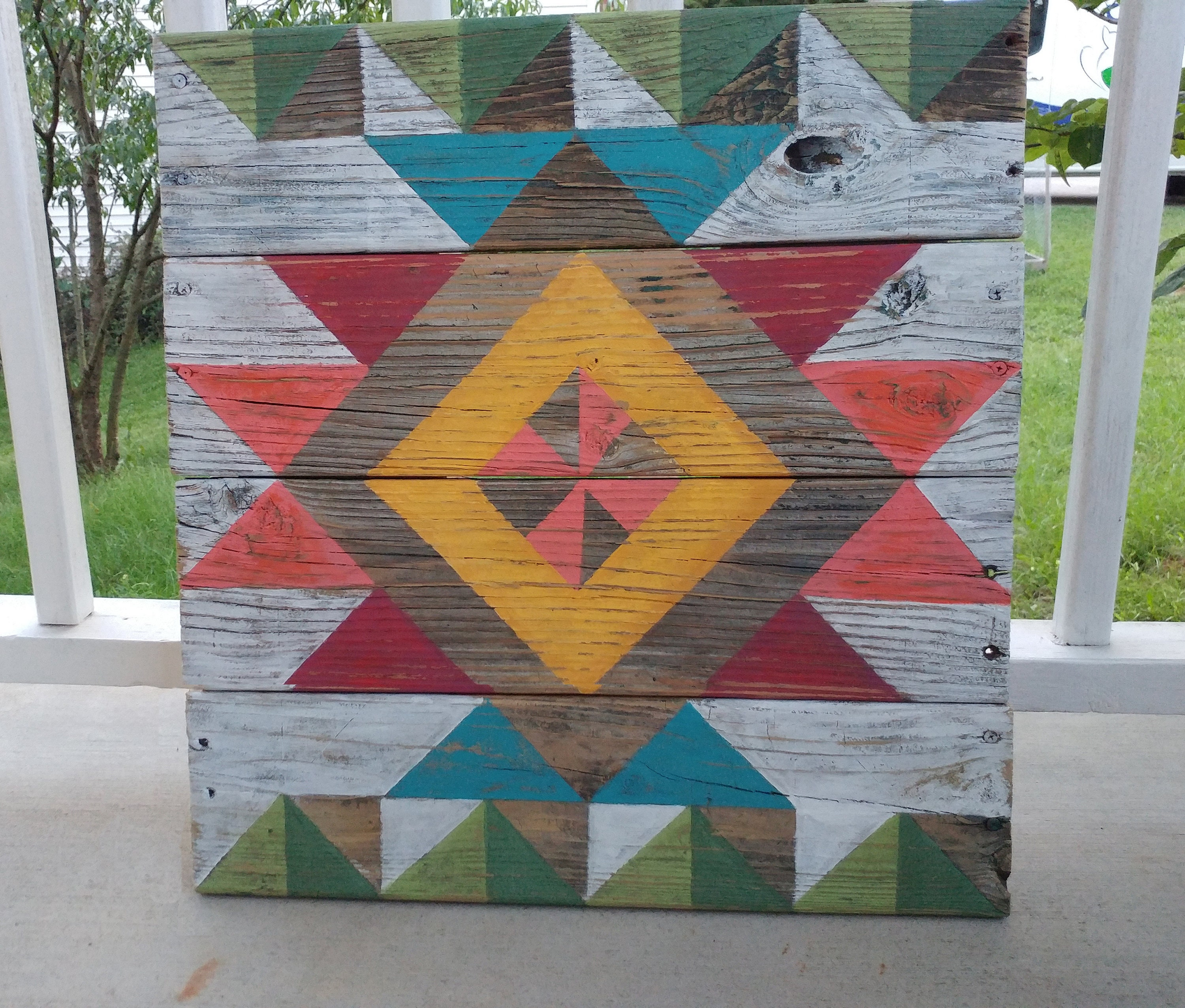 Custom Personalized Rustic Barn Quilt Sign On Distressed