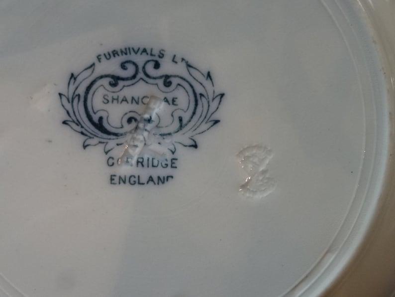 Chinoiserie Design Shanghai Antique Blue Transferware   Soup PLATE