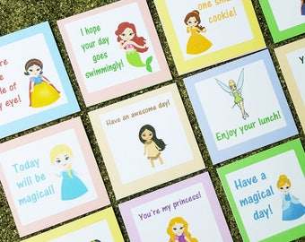 Lunch Box, Princess, Educational Toys, Kids LunchBox, Princess Lunch, Kids Lunch, Princess Note, Lunch Note, Back to School, Kindergarten