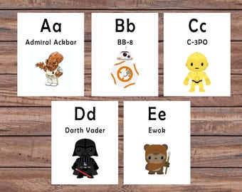 Star wars alphabet | Etsy