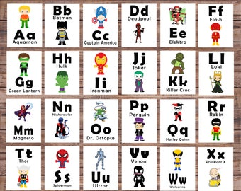 picture about Printable Abc Flash Cards identified as Abc flash playing cards Etsy