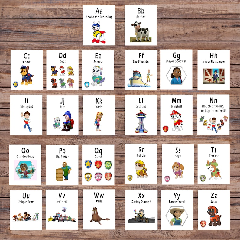 photo regarding Abc Flash Cards Free Printable named Paw Patrol, ABC Printable Flash Card, Printable Playing cards, Alphabet Card, Preschool, Useful Toy, Immediate Down load, Instantaneous Electronic Obtain