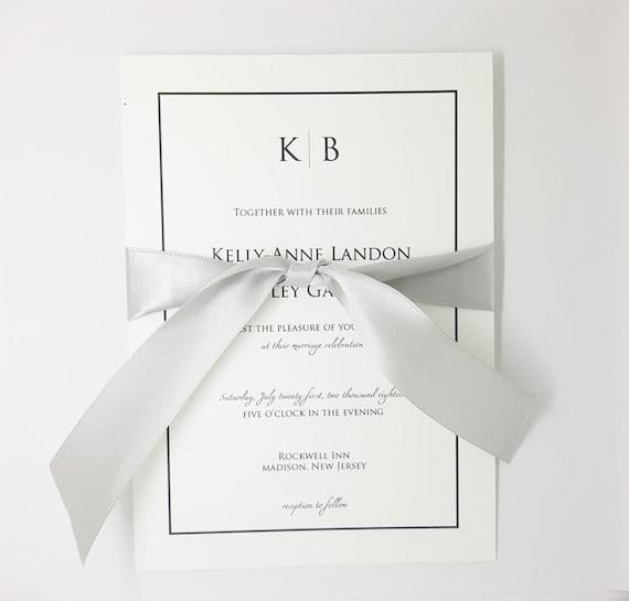 Minimalist Wedding Invitation Simple Wedding Invitation Set Etsy