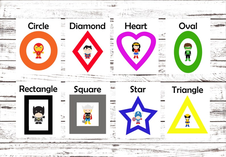 graphic regarding Printable Shapes Flash Cards identify Printable Flash Playing cards, Mastering Toys, Superhero, Printable Form Playing cards, Kindergarten, Preschool, Wall Playing cards, Instantaneous Obtain