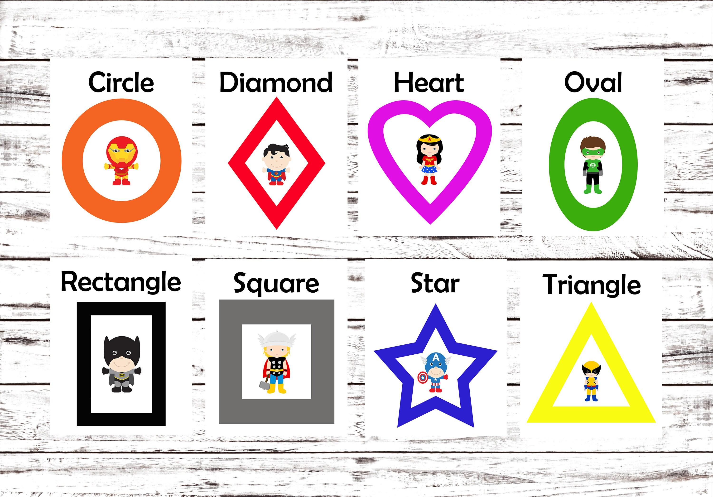 Printable Flash Cards Learning Toys Superhero Printable   Etsy