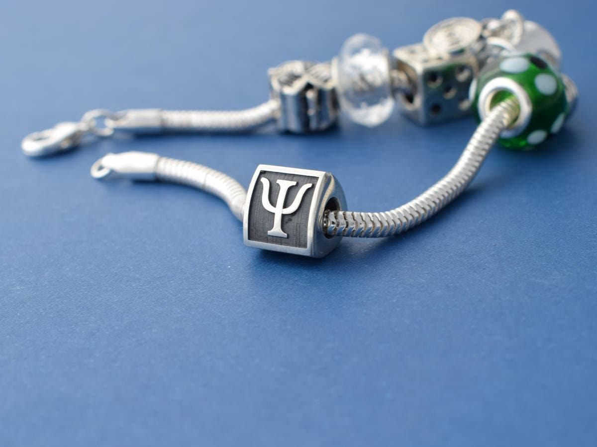 Psy Or Psi Psychology Charm Bead Fits Pandora Bracelet Etsy