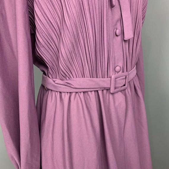 VINTAGE 70s maxi dress ruffle neck long Cottageco… - image 8
