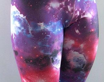 c0cffb640a8d5 Galaxy Leggings, Printed Leggings, Yoga Pants, Running Pants