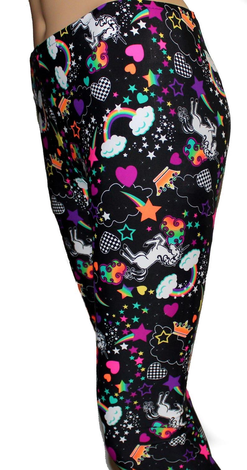 6c7e7c9e2b7d4 Men's Unicorn and Rainbow Leggings Printed Leggings   Etsy