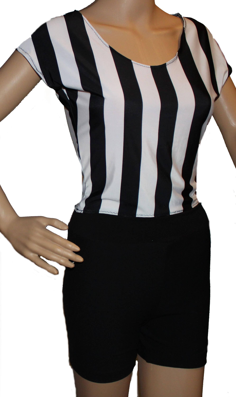 Referee Costumeref Shirt And Black Shorts Blackedwhite Etsy