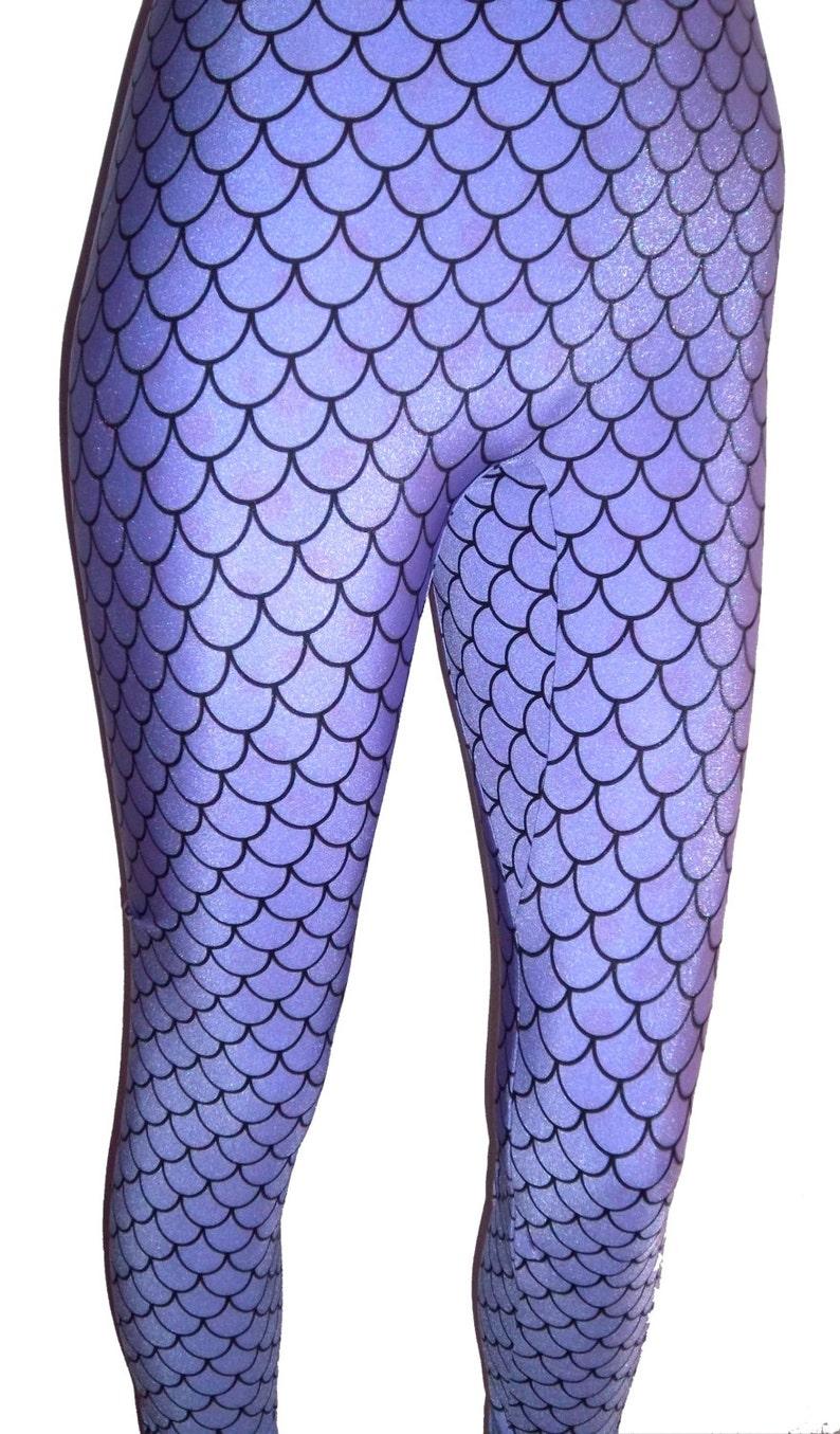 009bc6a71ec6a6 Youth Purple Mermaid Leggings Lavender Leggings Girls | Etsy