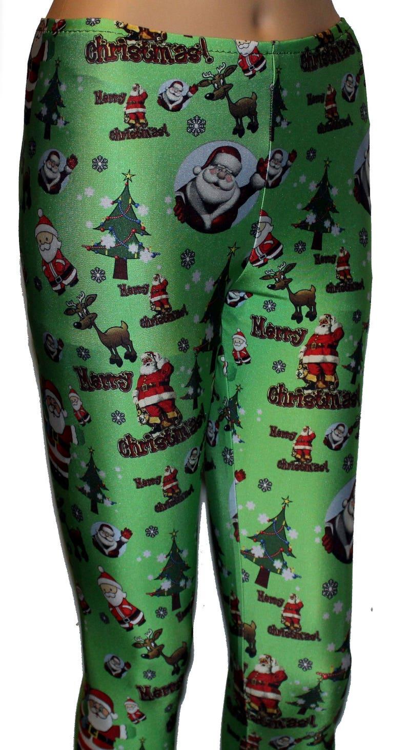 5e9a1b64dbb99 Men's Santa Leggings Christmas Leggings Winter Leggings | Etsy