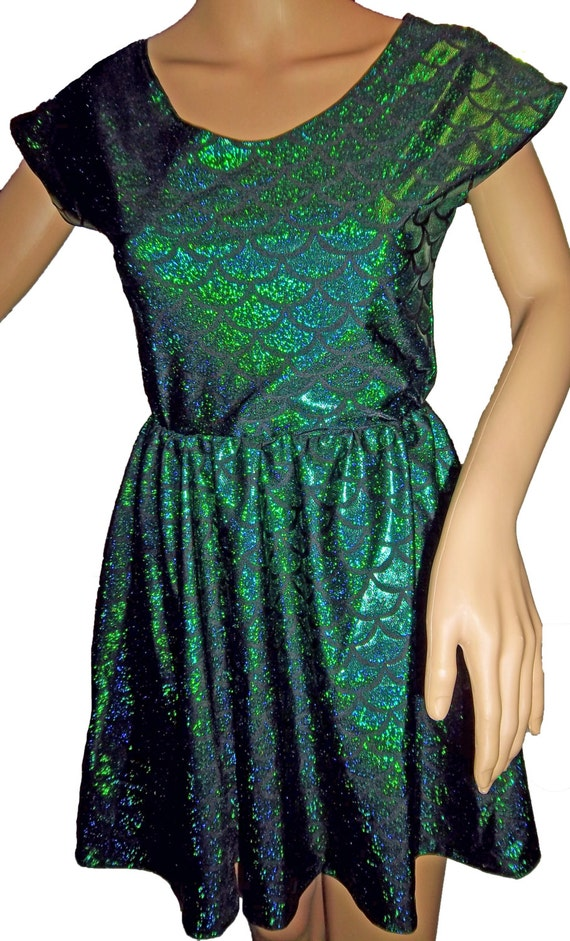 e757bb2138 Cap Sleeved Mermaid Skater Dress Festival Clothes Party