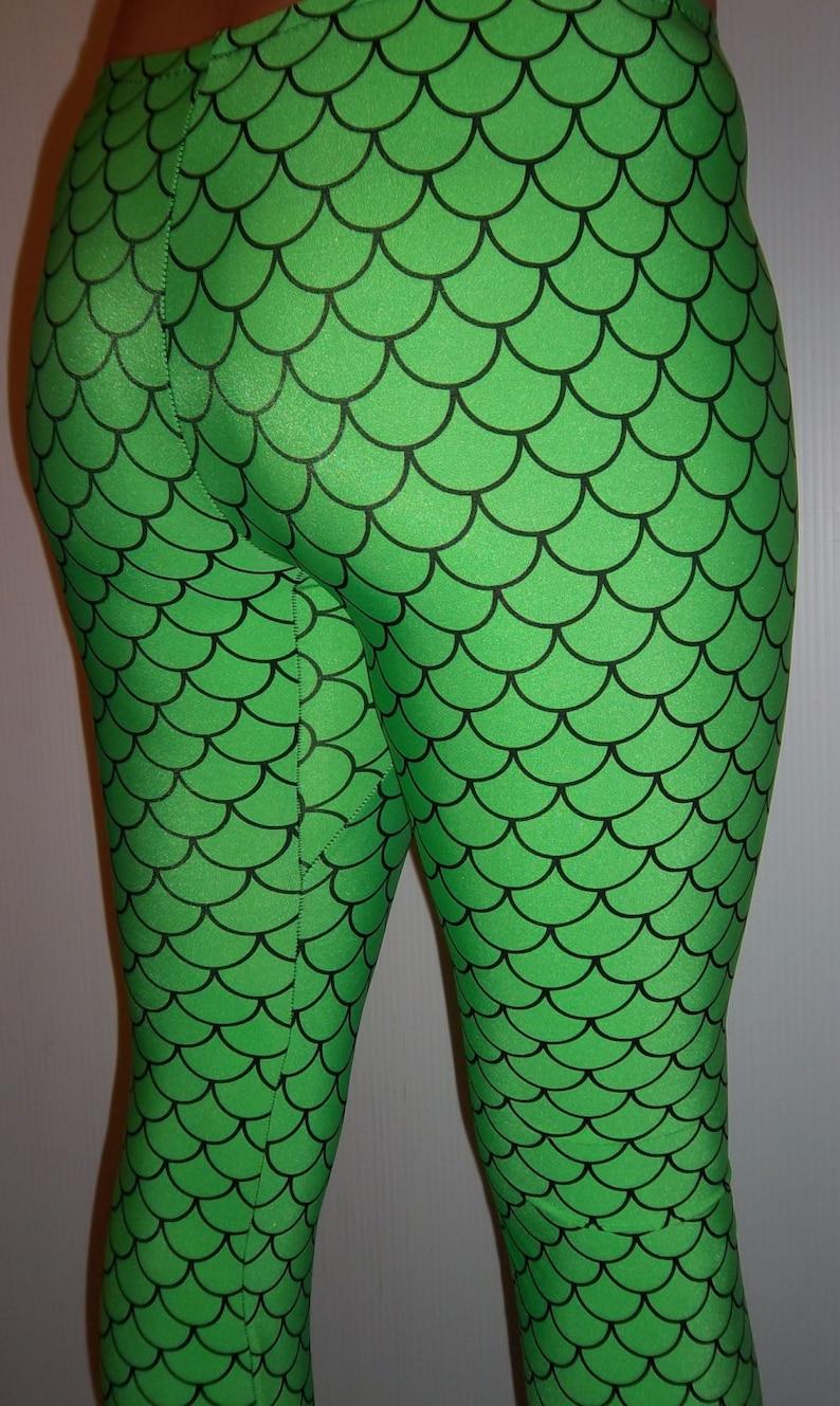 f94bdad0be5a44 Youth Green Mermaid Leggings Girls Leggings Printed | Etsy
