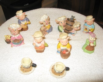 Ceramic Pigs Baker Family Collection