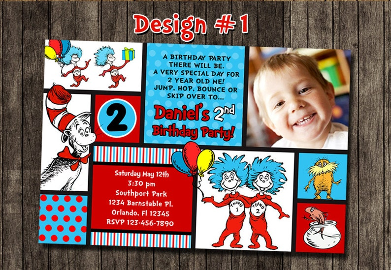 1 Year Old Birthday Party Orlando Cat In The Hat Doctor Dr Seuss Photo