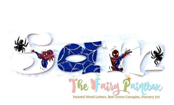 Spiderman Kinderzimmer Wand Buchstaben Jungen Kinderzimmer Zimmer Wand Buchstaben Superheld Wand Buchstaben Spinne Mann Wand Buchstaben