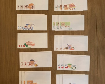Lori Holt Farm Girl Vintage 3 X 5 Index Card Set 72 Index Cards Plus 12 Dividers