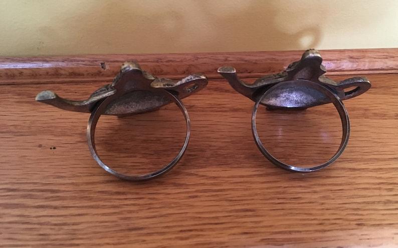 tea kettles set of 2 tea pots Vintage napkin rings