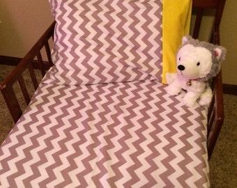 Chevron flannel sheet set.
