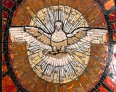 His Gaze -Holy Spirit, St Peter 39 s Basilica stained glass mosaic wall hanging Catholic Church.