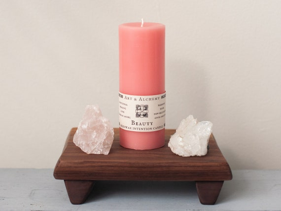 Beauty Intention Candle for emotional healing, love, new beginnings, working with your guardian angel