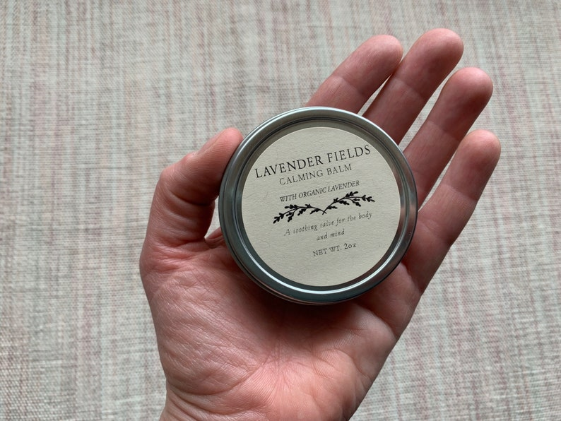 Lavender Calming Balm with organic lavender and avocado oil image 0