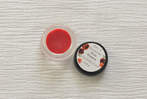 Rose Madder lip and cheek tint, natural, moisturizing, buildable color