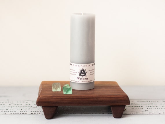 Widsom Intention Candle for spiritual wisdom, evolution, creativity, manifestation