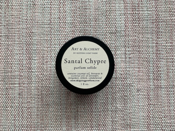 Santal Chypre Sandalwood and citrus natural solid perfume 1 oz