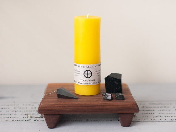 Kingdom Intention Candle for grounding, protection, employment, balance and stability