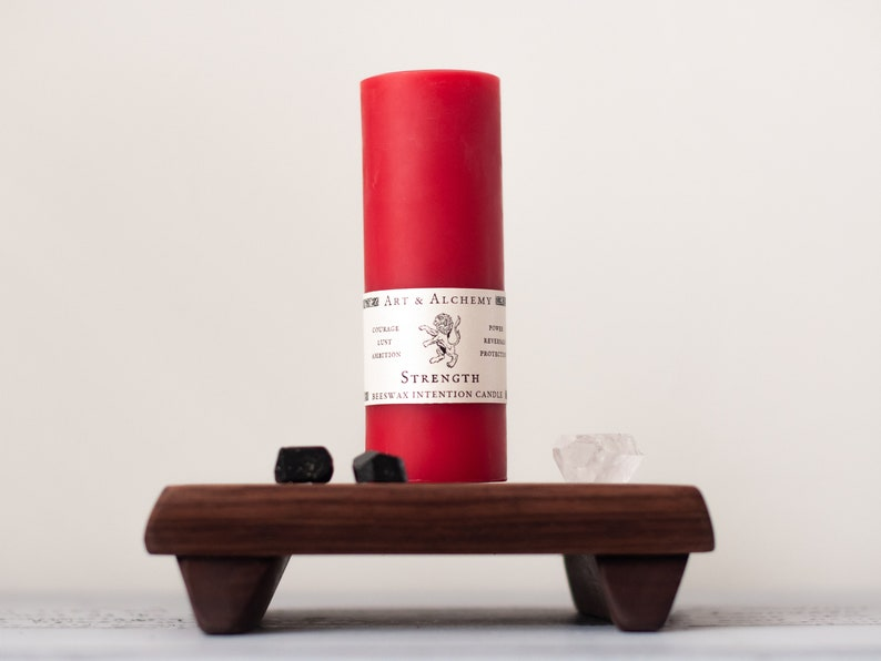 Strength Beeswax Intention Candle for Courage Ambition image 1