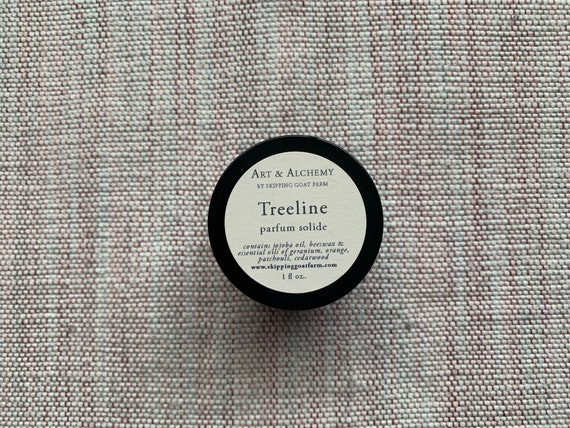 Treeline Solid Perfume with Patchouli and Geranium