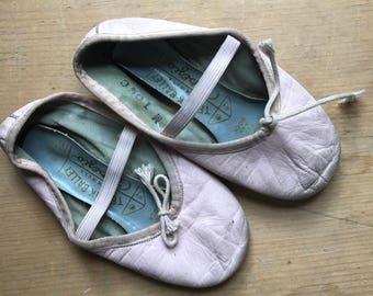 Vintage Pink Ballerina Shoes
