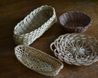 Collection of 4 Vintage Baskets