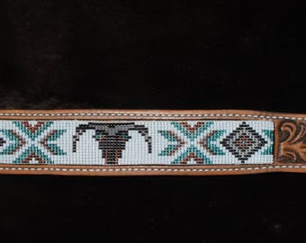 Toho Seed Bead Strip for Leather Inlay