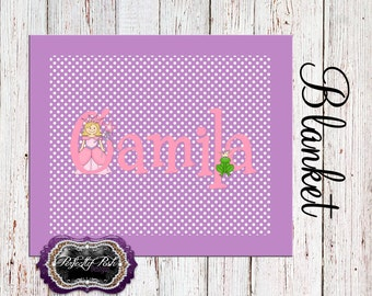 Personalized Princess Blanket