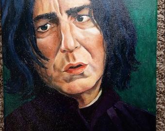 Professor Snape small oil painting