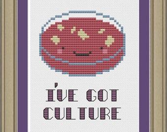 I've got culture: nerdy bacteria cross-stitch pattern