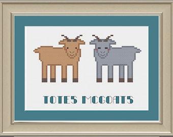 Totes McGoats: nerdy goat cross-stitch pattern
