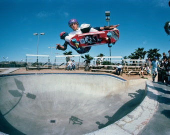 "Tony Hawk Ollie Del Mar Skateboarding Photograph - 18 x 24"" Eighties Skateboard Photograph - Tony Hawk Skateboard Print"