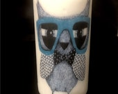 Funky Owl Candle