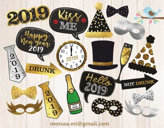 New Year's Eve Printable Photo Props