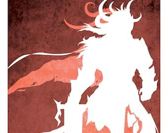 Balthazar: Guild Wars Minimalistic 11 x 17 Gods of Tyria Print
