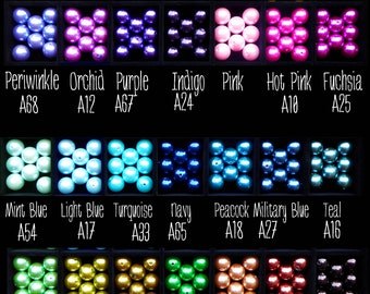 16mm Pearl Beads Set of 10-35 color choices any color of the rainbow you are looking for Chunky Necklaces