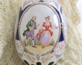 Large handpainted porcelain egg