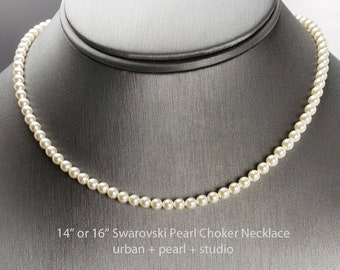 Adjustable 5.5-6mm single strand 14-16 bridal pearl necklace Silver Clasp Genuine Pearl Collar Necklace Natural Freshwater Pearl Choker
